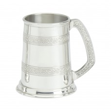 1 PT PEWTER TANKARD CELTIC