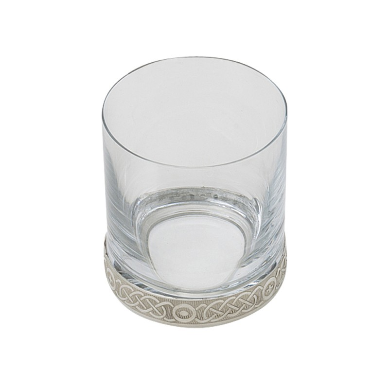 CELTIC GLASS AND PEWTER WHISKY TUMBLER