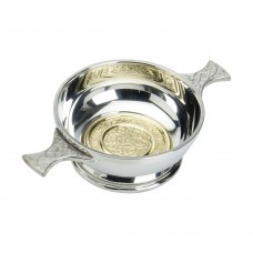 CELTIC QUAICH BOWL WITH BRASS