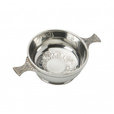 CELTIC/THISTLE DESIGN QUAICH BOWL