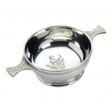 CELTIC QUAICH BOWL WITH THISTLE