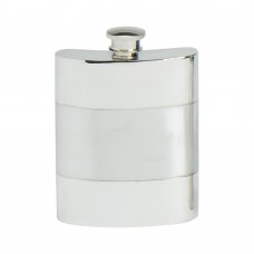 SATIN BAND HIP FLASK