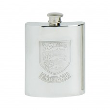 6OZ ENGLAND SHIELD HIP FLASK