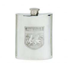 6OZ WELSH SHIELD HIP FLASK