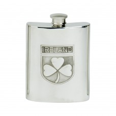 IRELAND SHIELD HIP FLASK