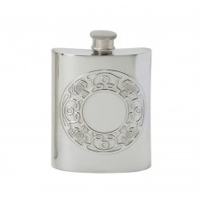 CELTIC THISTLE EMBOSSED HIP FLASK