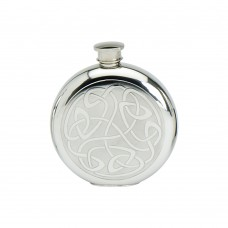 6OZ ROUND FLASK CELTIC SCROLL