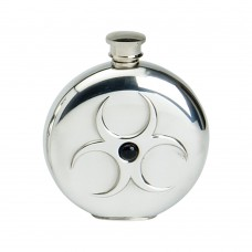 6OZ ROUND FLASK ONYX STONE HAZARD DESIGN