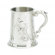 Tankard Stamped Football Scene