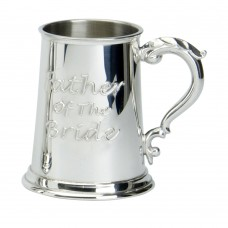 1PT PEWTER TANKARD FATHER OF THE BRIDE