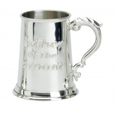 1PT PEWTER TANKARD FATHER OF THE GROOM