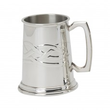 PEWTER TANKARD CELTIC ROPE