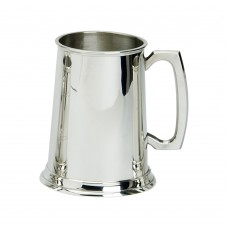 1PT PEWTER TANKARD PLAIN GLASS BASE