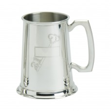 1PT PEWTER TANKARD STAMPED 21 KEY
