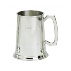 1PT PEWTER TANKARD STANDARD GLASS BASE