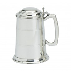 1PT PEWTER TANKARD STANDARD WITH LID