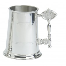 1PT PEWTER TANKARD STANDARD 21 KEY HANDLE