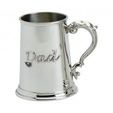 1PT PEWTER TANKARD STANDARD GEORGIAN HANDLE DAD