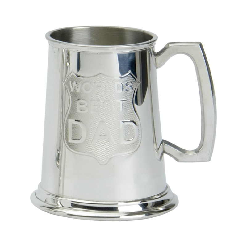 1PT PEWTER TANKARD WORLDS BEST DAD
