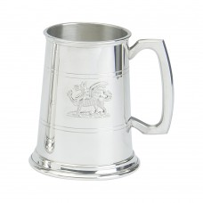 1PT PEWTER TANKARD STANDARD DRAGON MOUNT