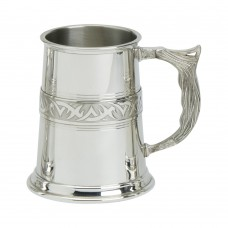 1PT PEWTER TANKARD NEW TRIBAL