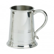 1PT PEWTER TANKARD BATH GLASS BASE