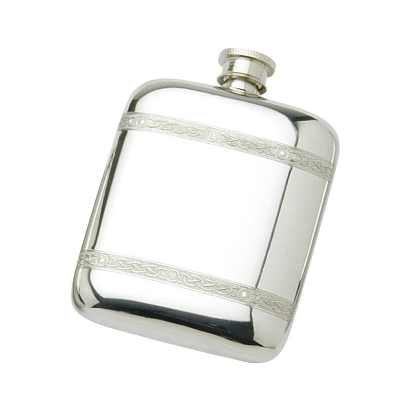 Pocket Flask Celtic Wire