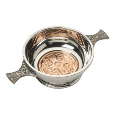 COPPER CELTIC CROSS QUAICH BOWL
