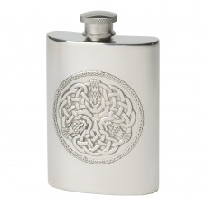 4OZ CELTIC THISTLE HIP FLASK