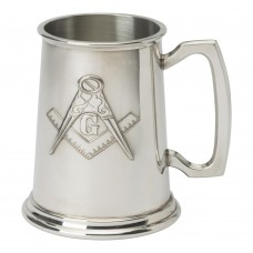 1 PT PEWTER TANKARDS MASONIC