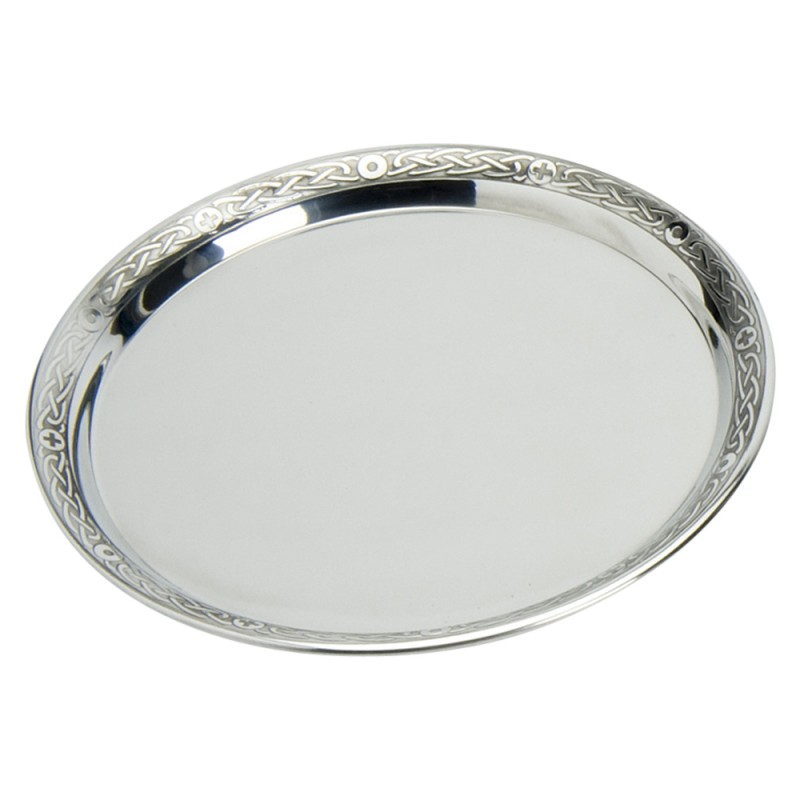 PEWTER TRAY WITH CELTIC RIM