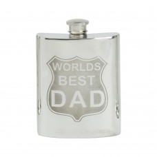 WORLDS BEST DAD SHIELD HIP FLASK