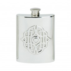 6OZ CELTIC BUCKLE HIP FLASK
