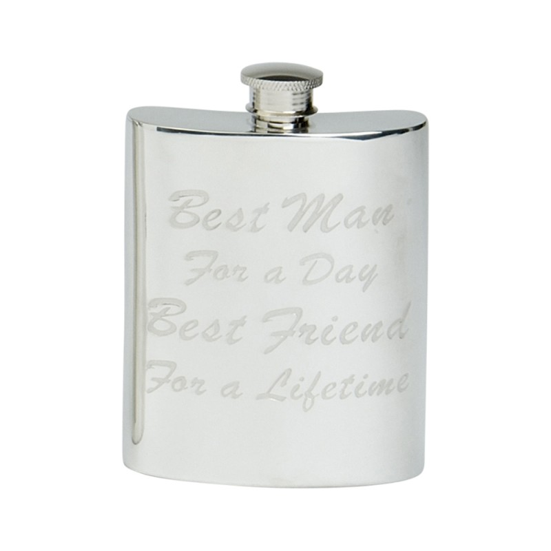 BEST MAN FOR A LIFE TIME HIP FLASK