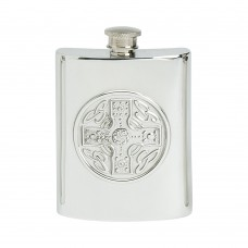 6OZ CELTIC CROSS HIP FLASK