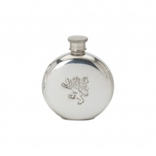 4OZ ROUND FLASK RAMPANT LION