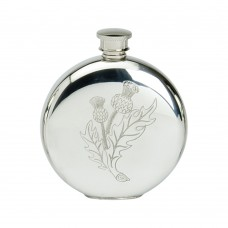 6OZ ROUND FLASK STAMPED THISTLE