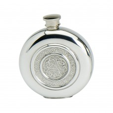 6OZ ROUND FLASK CELTIC ROPE