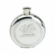 6OZ ROUND FLASK WITH DRAGON BADGE