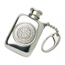 1.5 0Z CELTIC POCKET FLASK WITH KEY CHAIN