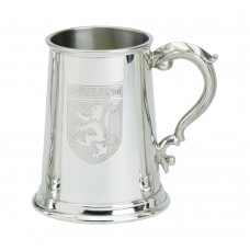 1 PT PEWTER TANKARD SCOTLAND BADGE