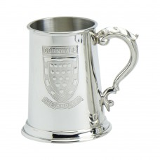1PT PEWTER TANKARD CORNWALL SHIELD