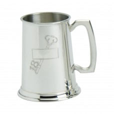 1PT PEWTER TANKARD STAMPED 18 KEY