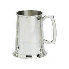 1PT PEWTER TANKARD STANDARD GLASS BASE