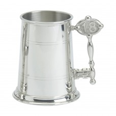 1PT PEWTER TANKARD STANDARD 18 KEY HANDLE
