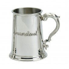 1PT PEWTER TANKARD STANDARD GEORGIAN HANDLE GRANDAD