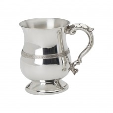 PEWTER TANKARD  GEORGIAN CELTIC WIRE