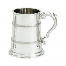 1PT PEWTER TANKARD CAMPBELL GLASS BASE