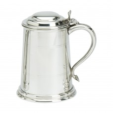 1PT PEWTER TANKARD WELLS WITH LID