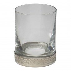 CELTIC SHOT GLASS WITH PEWTER RIM
